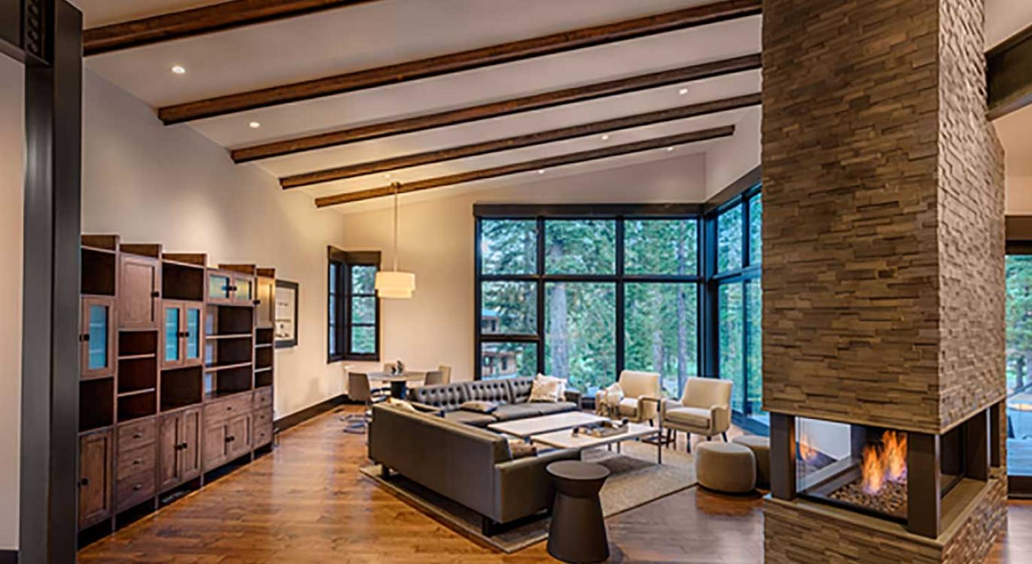 Martis Camp Fireplace in custom home
